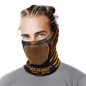 x9-NAROO зимняя маска-оранжевый с серым-min