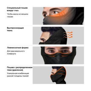 NAROO Z5H - Зимняя Анти-фог Полу-Балаклава Функции