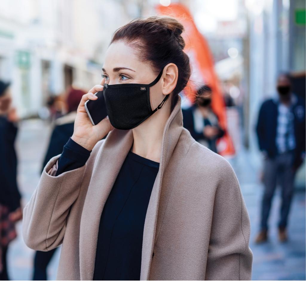 Бизнес леди с защитной маской NAROO F.U Plus Copper